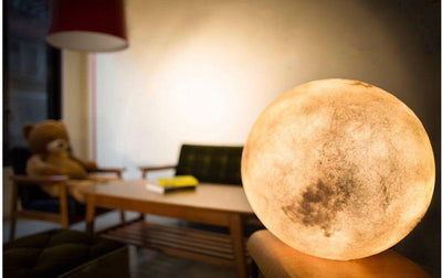 Glowing 3D Printed Lunar Moon Lamp - Heartsi Co