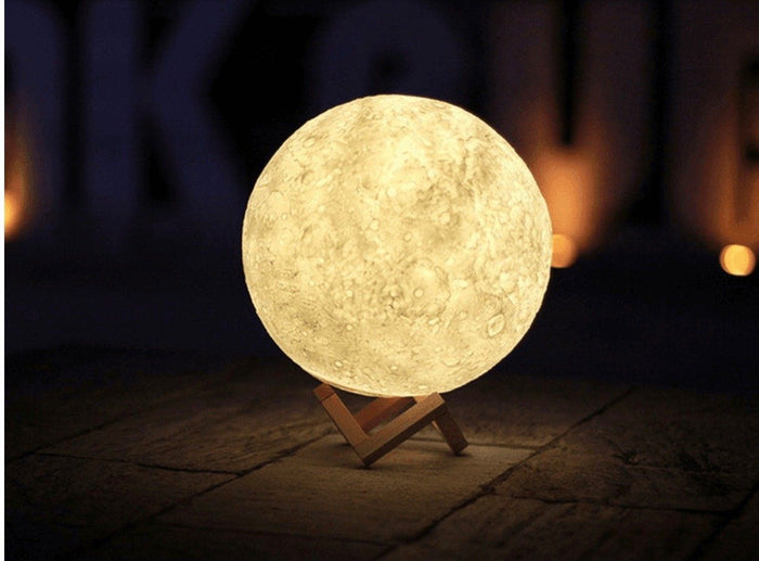 Glowing 3D Printed Lunar Moon Lamp