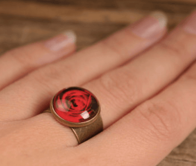 Red Rose Ring - Heartsi Co