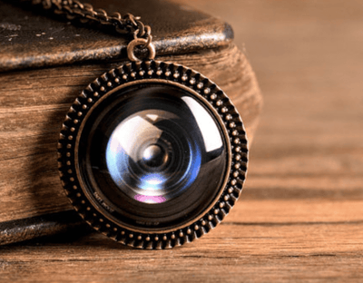 Camera Lens Necklace