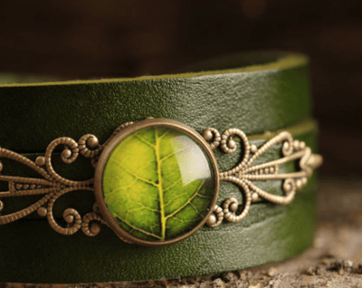 Green Leaf Bracelet - Heartsi Co