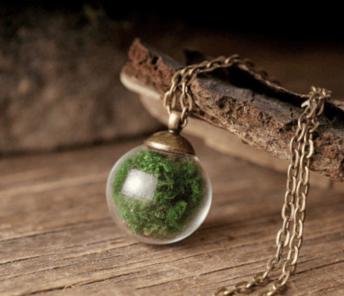 Real Moss Terrarium Necklace