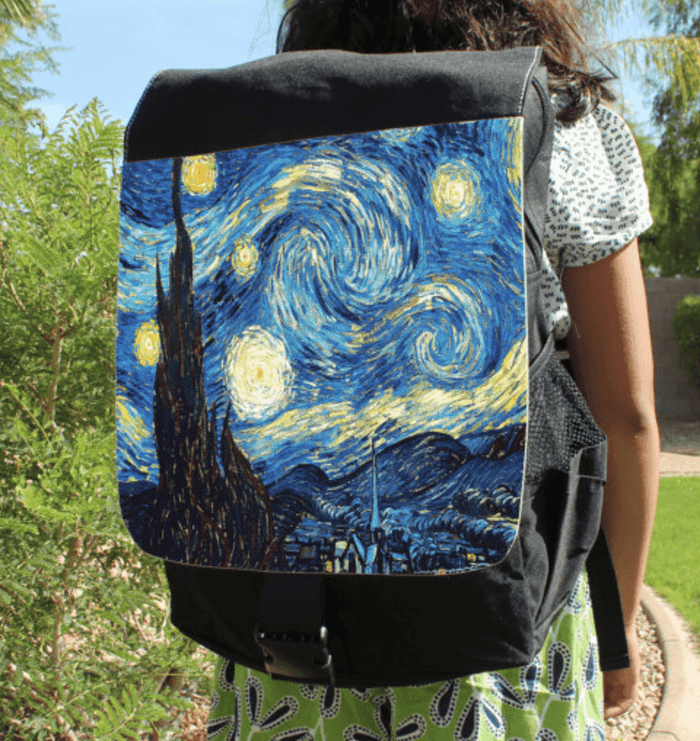 Van Gogh Starry Night Canvas Backpack Bag
