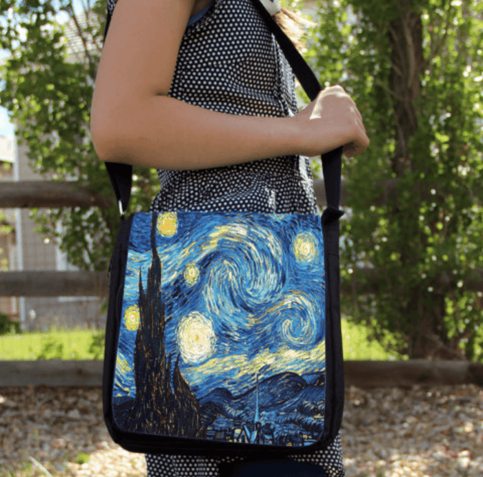 Starry Night Vincent Van Gogh Large Messenger / Shoulder Bag