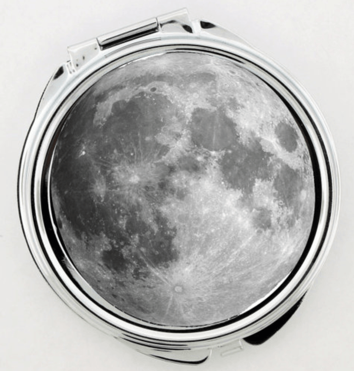 Full Moon Artwork Make-up Mirror