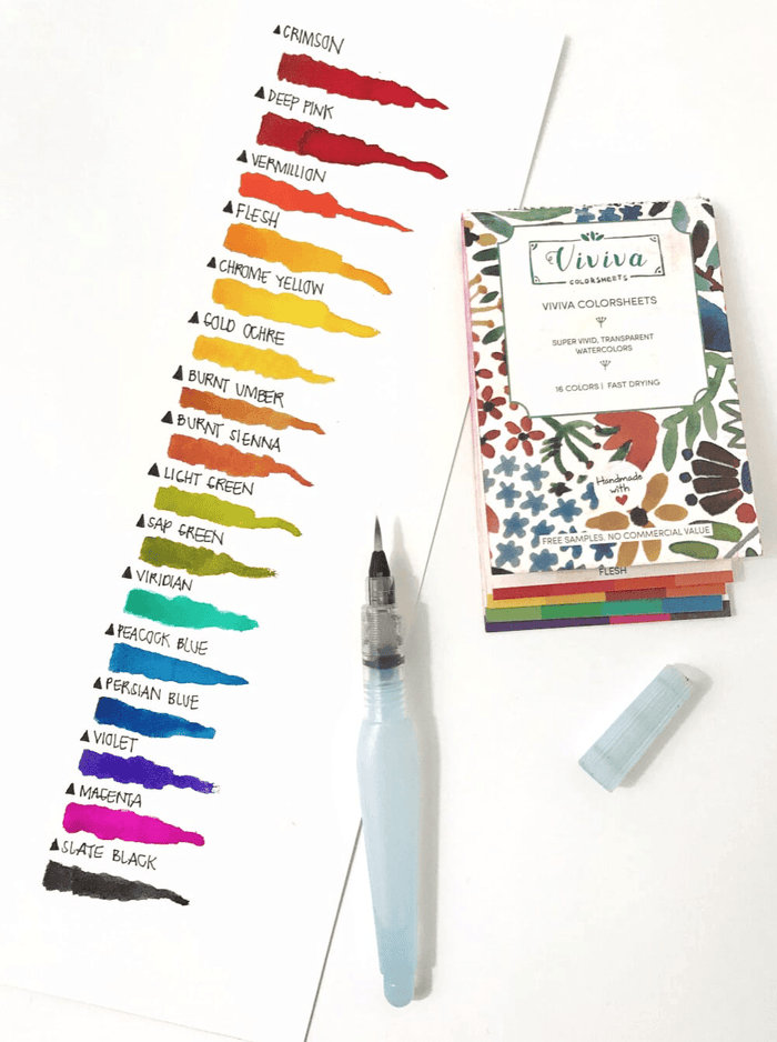Revolutionary Portable Watercolor Set with 16 Colours