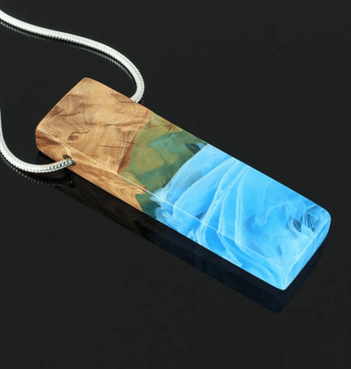 Blue Morning Dreams Rectangular Necklace