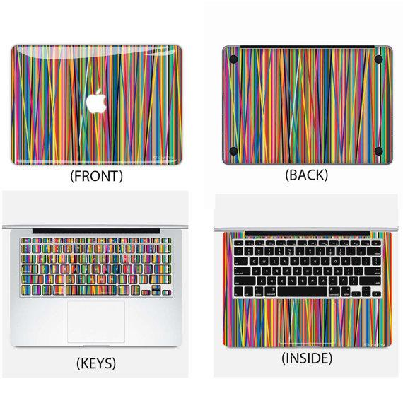 Colorful Rainbow Macbook Skin