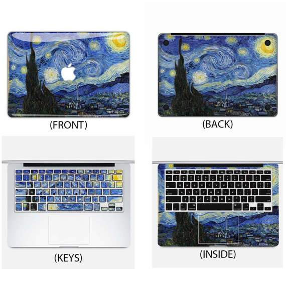 Starry Night Macbook Skin - Heartsi Co