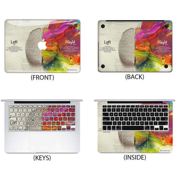 Left Right Brain Macbook Cover - Heartsi Co