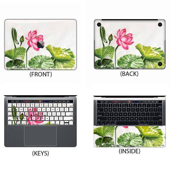 Lotus Painting Macbook Skin