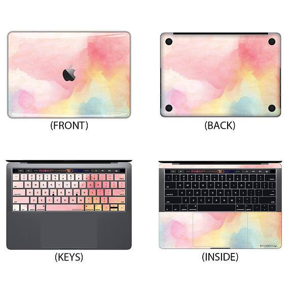 Pink Watercolor Macbook Skin