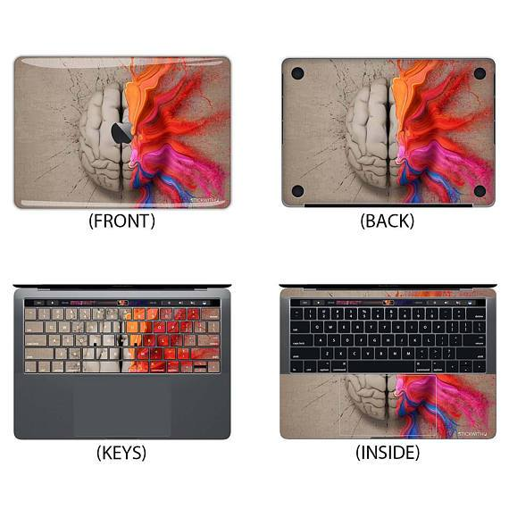 Left Brain Right Brain Creativity Macbook Skin