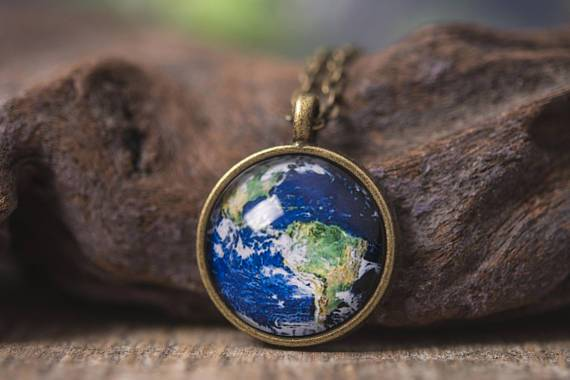 Planet Earth Necklace - Heartsi Co