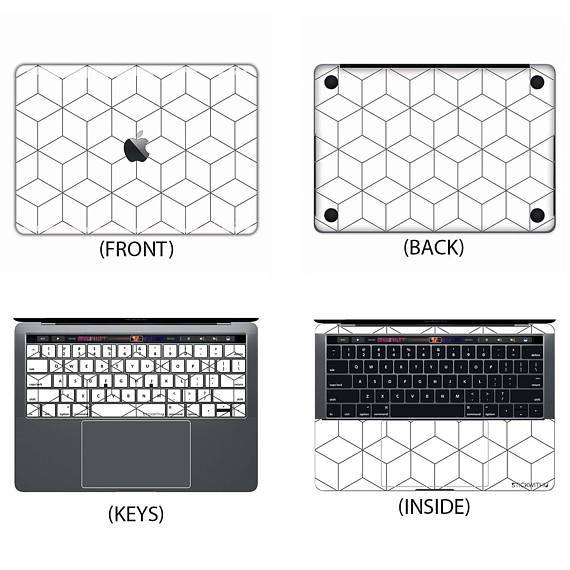 Cube Pattern Macbook Skin