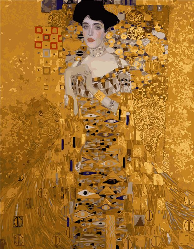 DIY Mrs Bauer by Gustav Klimt Paint By Number Set - Heartsi Co