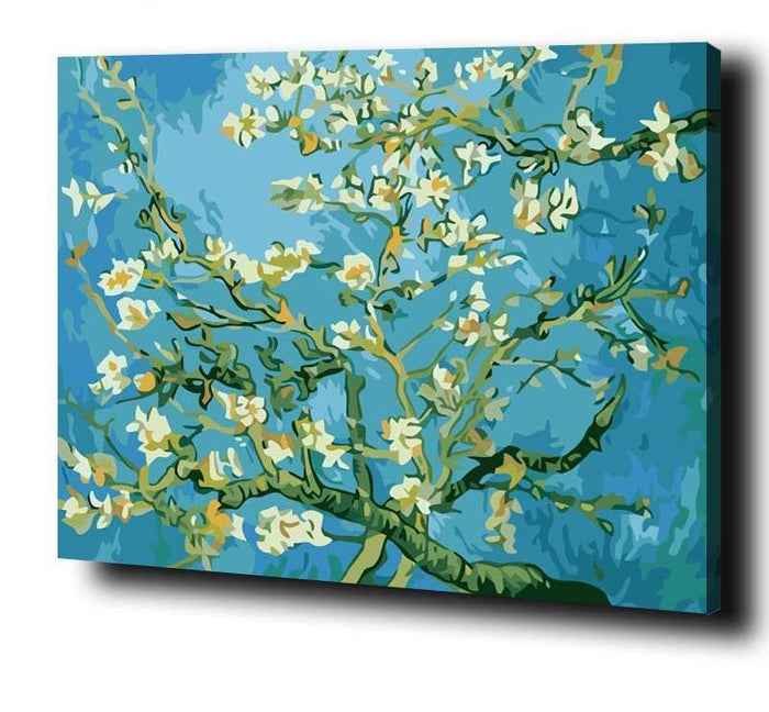 DIY Vincent Van Gogh Almond Blossoms Paint By Number Set - Heartsi Co