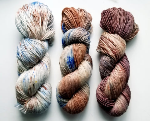 Morning Muffin & Java Fade Kit - Heathers Yarn Barn - hand dyed yarn