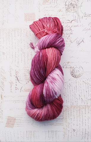 February Collection - Red Roses and Wine - 1 available - READY TO SHIP - Heathers Yarn Barn
