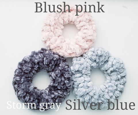 Velvet hair scrunchies - Heathers Yarn Barn