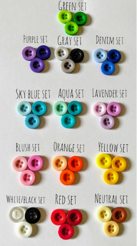 Button Themed Stitch Markers - Set of 6 - Heathers Yarn Barn