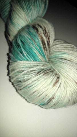 Brown and Aqua Specks Yarn - Heathers Yarn Barn