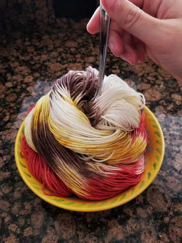 Spaghetti with Meatballs sock yarn - Heathers Yarn Barn