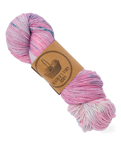 Hand Dyed Sock Yarn - Pink Bubble Gum - 16 Available - READY TO SHIP - Heathers Yarn Barn