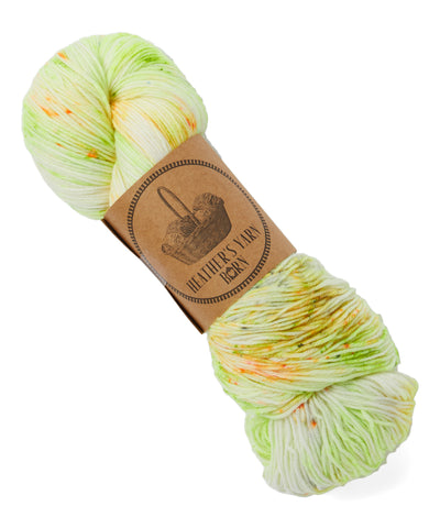 Hand Dyed Sock Yarn - Slimer - 11 Available - READY TO SHIP - Heathers Yarn Barn