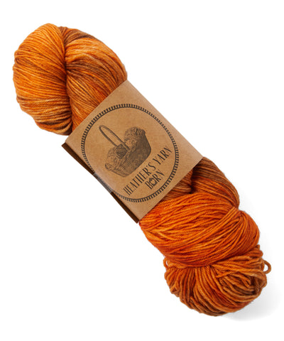 Hand Dyed Sock Yarn - New England Harvest - 10 available - READY TO SHIP - Heathers Yarn Barn