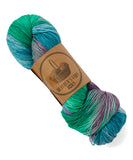 Hand Dyed Sock Yarn - Jewels - 2 available - READY TO SHIP - Heathers Yarn Barn