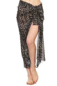 Island Girl Long Wrap Cover Up