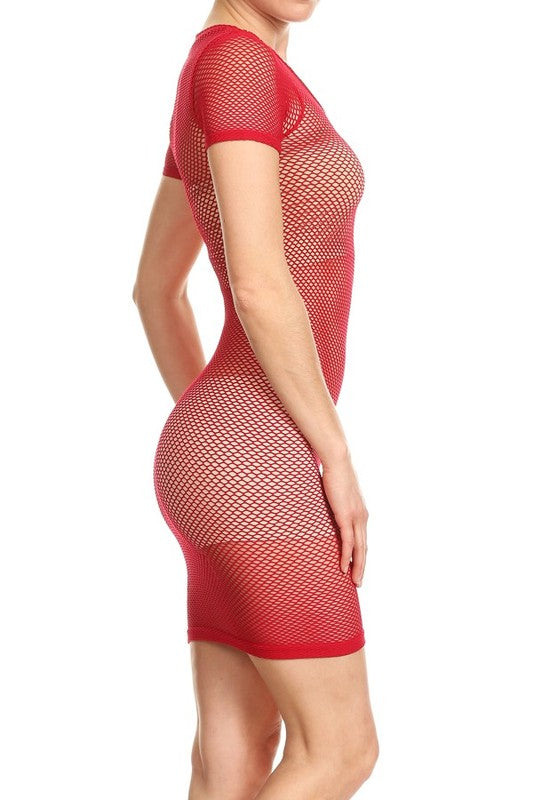 Show Off Net Mini Dress
