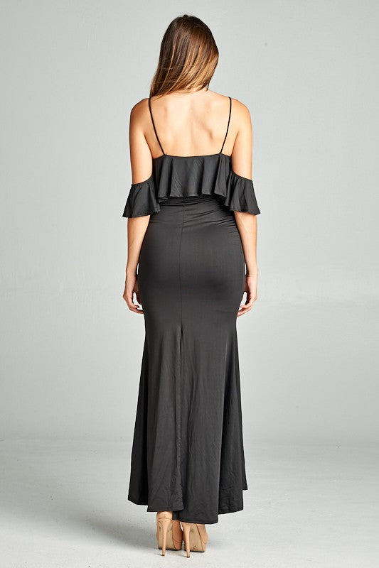 Esmeralda Off The Shoulder Maxi Dress - Black