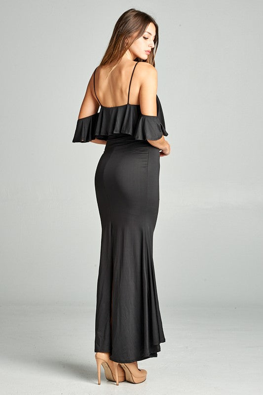 Esmeralda Off The Shoulder Maxi Dress