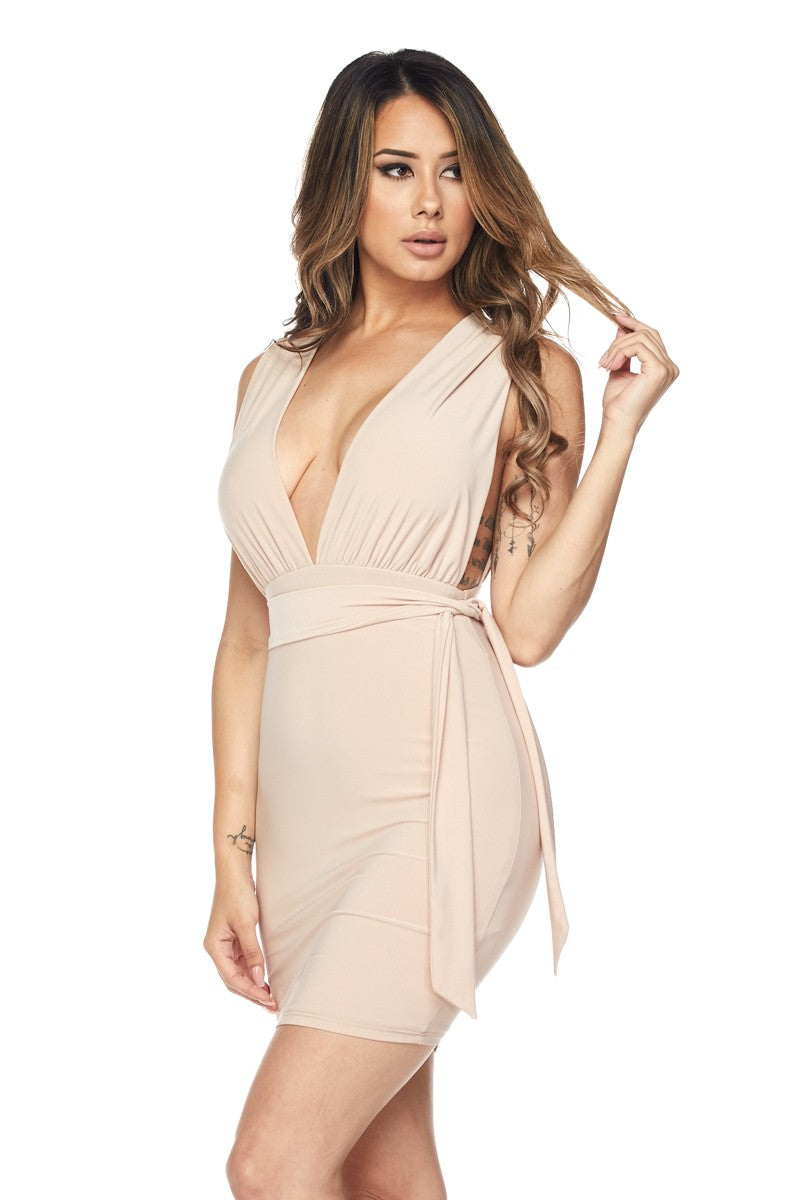 Athena Nude Mini Dress