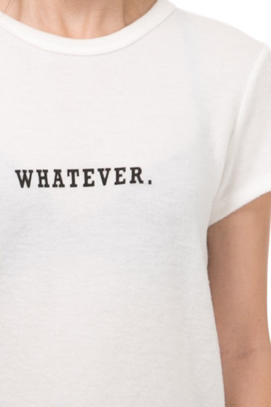Whatever Tee - White