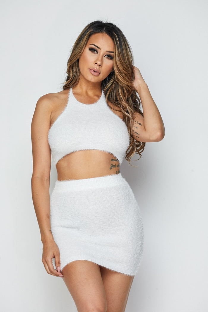 Cuddle Up Fuzzy Skirt Set