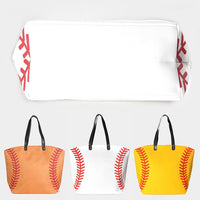 Softball Canvas Tote Bag