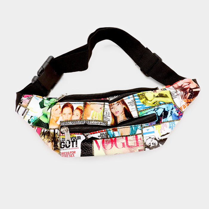 Vogue Magazine Print Fanny Pack