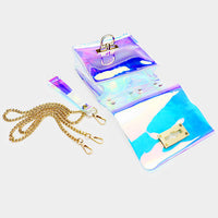 Clear Hologram Mini Crossbody Bag