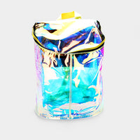 Clear Hologram Bucket Backpack Bag
