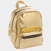 Lux Patent Backpack Bag - Gold