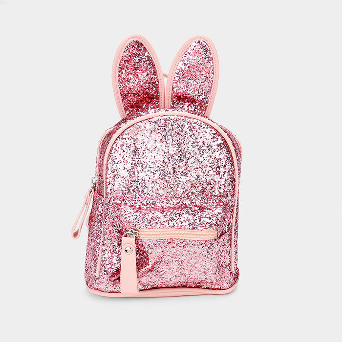 Sequin Bunny Ears Mini Backpack - Pink