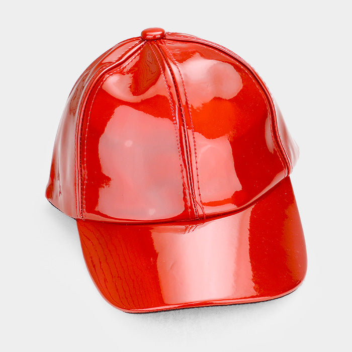 Patent Leather Baseball Cap