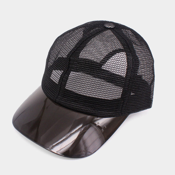 Transparent Brim Trucker Hat - Black