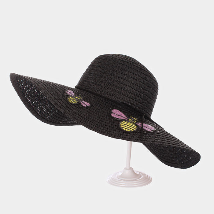 Honey Bee Floppy Sun Hat - Black