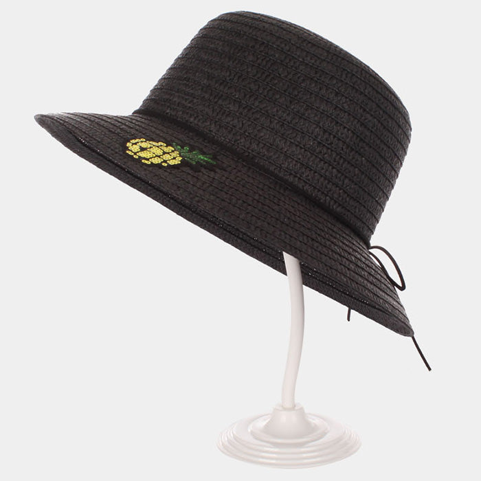 Pineapple Patch Straw Hat - Black