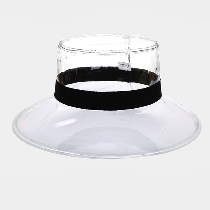 Clear Ribbon Trim Bucket Hat