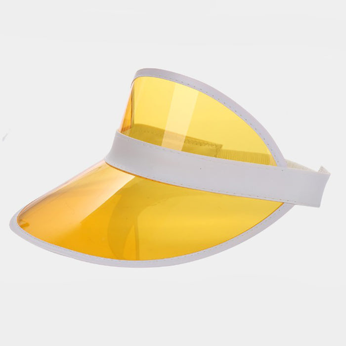 Paradise Transparent Visor Sun Hat - Yellow